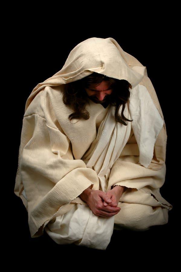 Jesus nella preghiera immagini stock libere da diritti