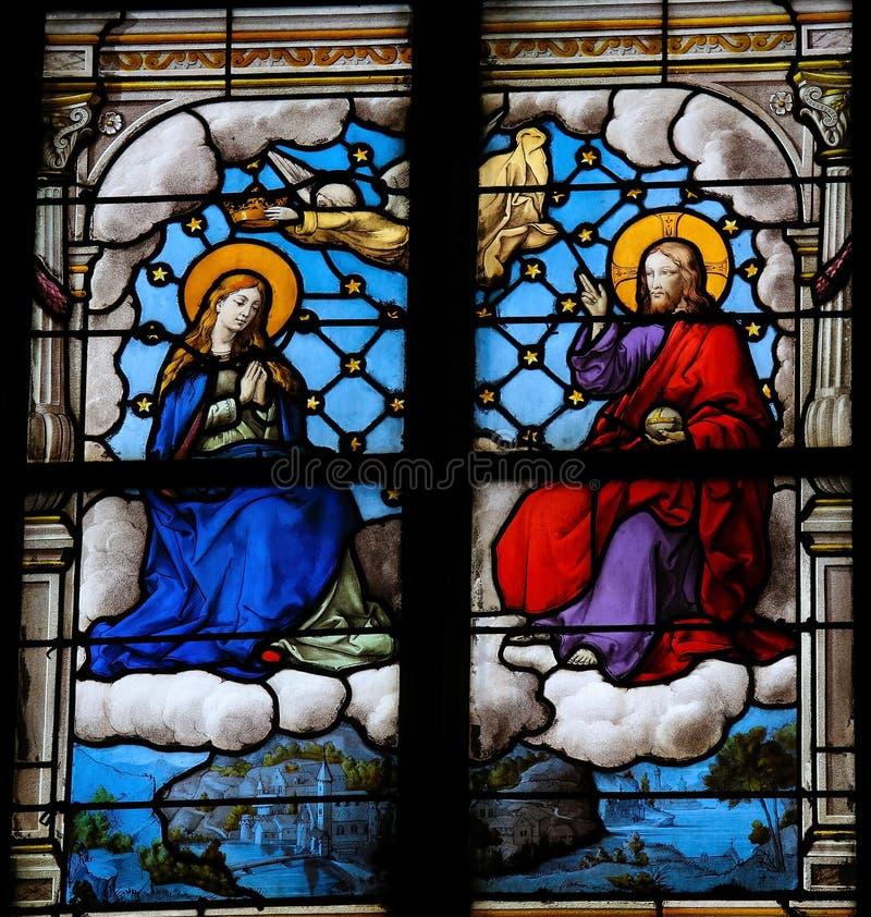 Jesus och fostrar Mary arkivfoton