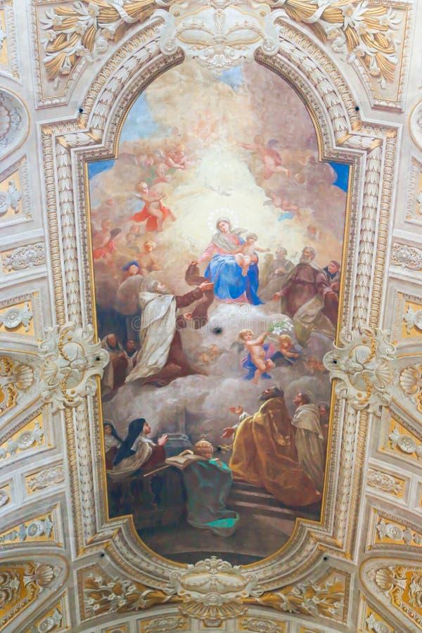 Jesus och oskuld Mary Painting, Vaticanen arkivfoton
