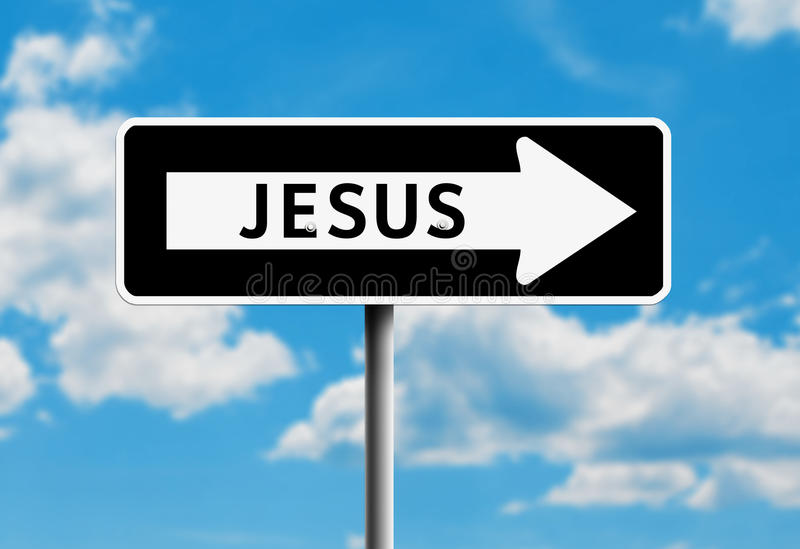 Jesus One Way Royalty Free Stock Photography