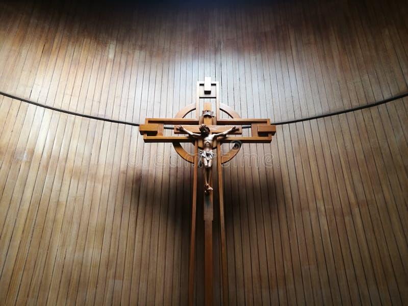 Jesus op het Kruis stock afbeelding