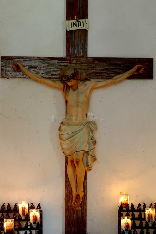 Jesus op kruis 2 stock afbeelding