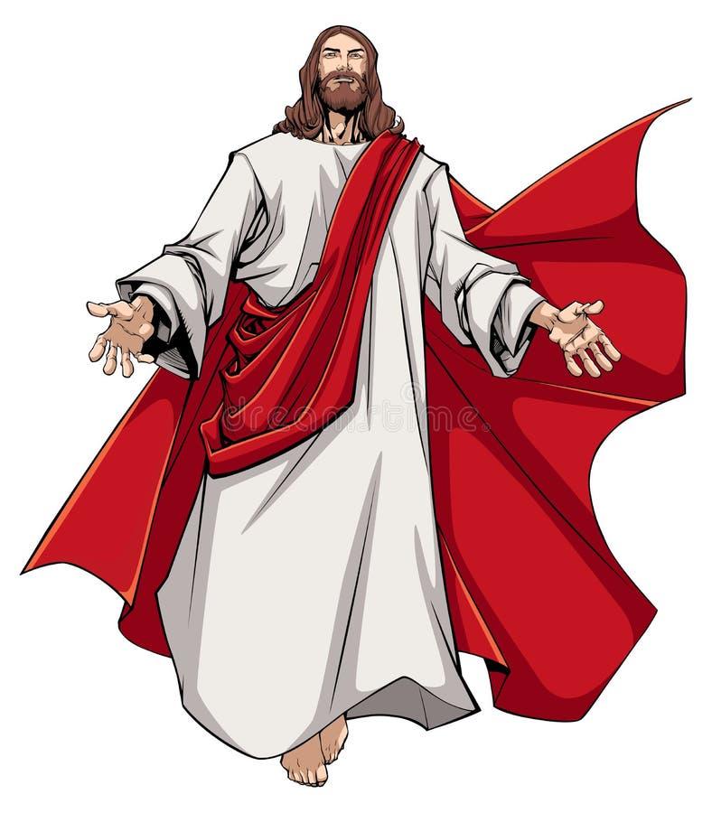 Jesus Open Arms ilustração do vetor