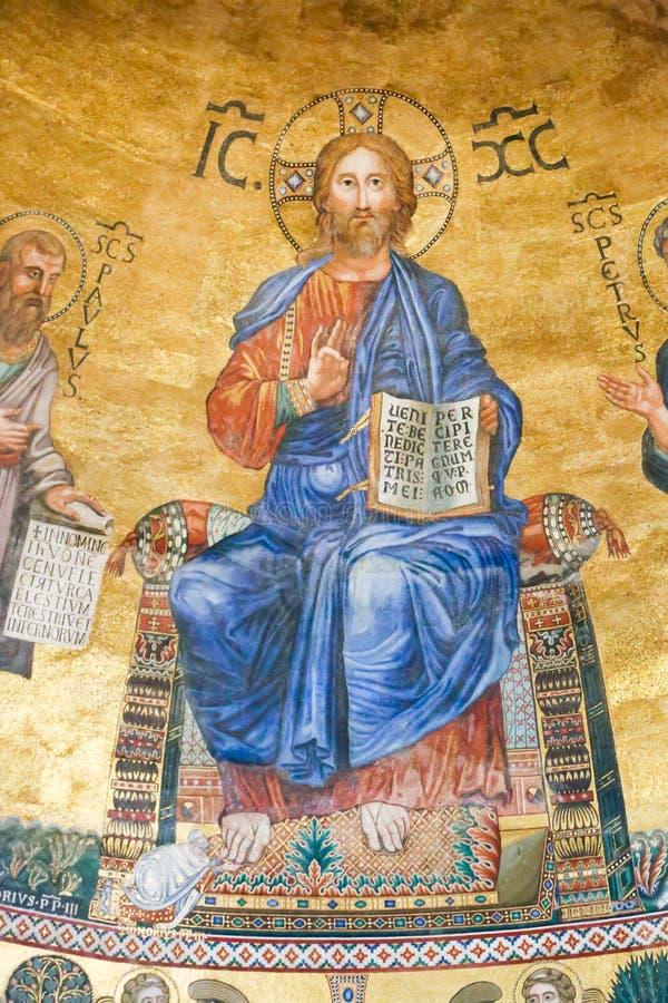 Jesus Painting Vaticanen fotografering för bildbyråer