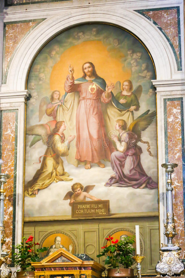 Jesus Painting, Vaticano imagenes de archivo