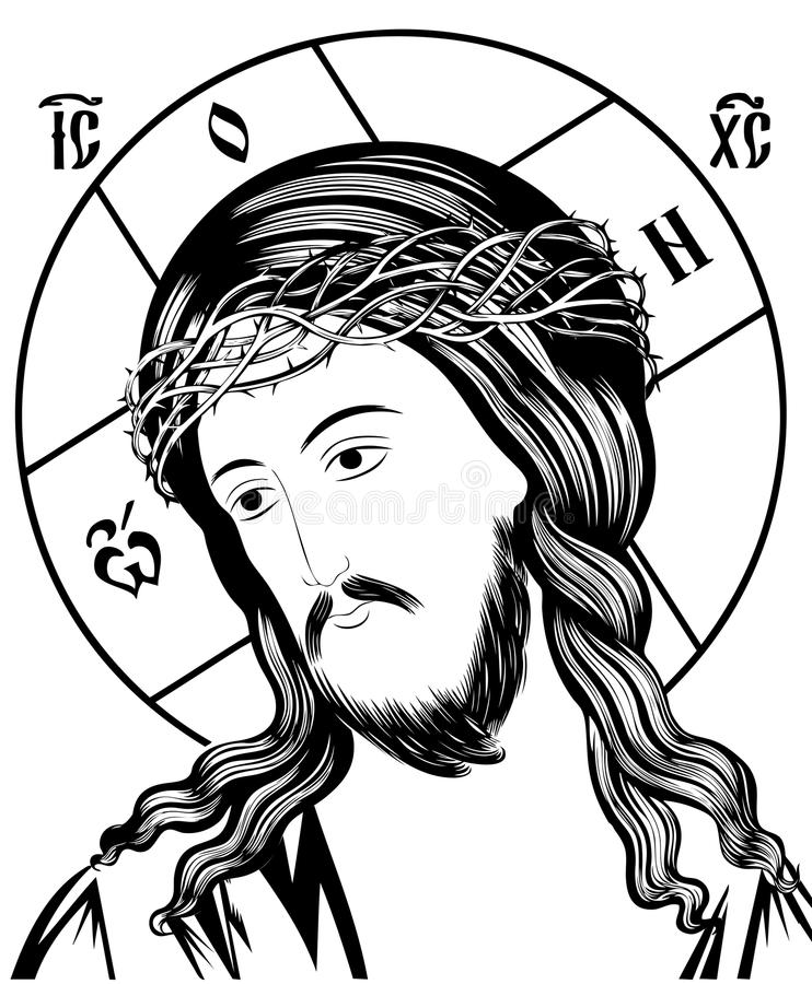 Jesus - passion royaltyfri illustrationer