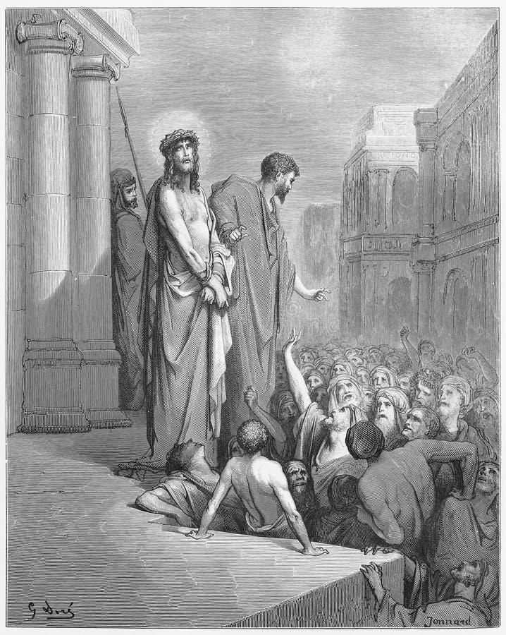 Jesus Is Presented aan de Mensen vector illustratie