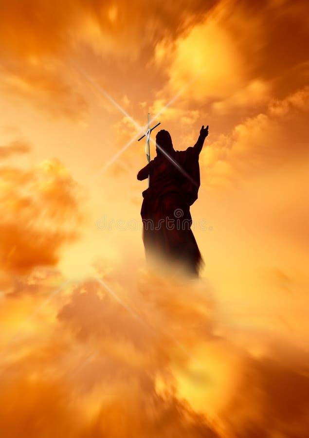 Jesus que mostra a maneira ilustração royalty free