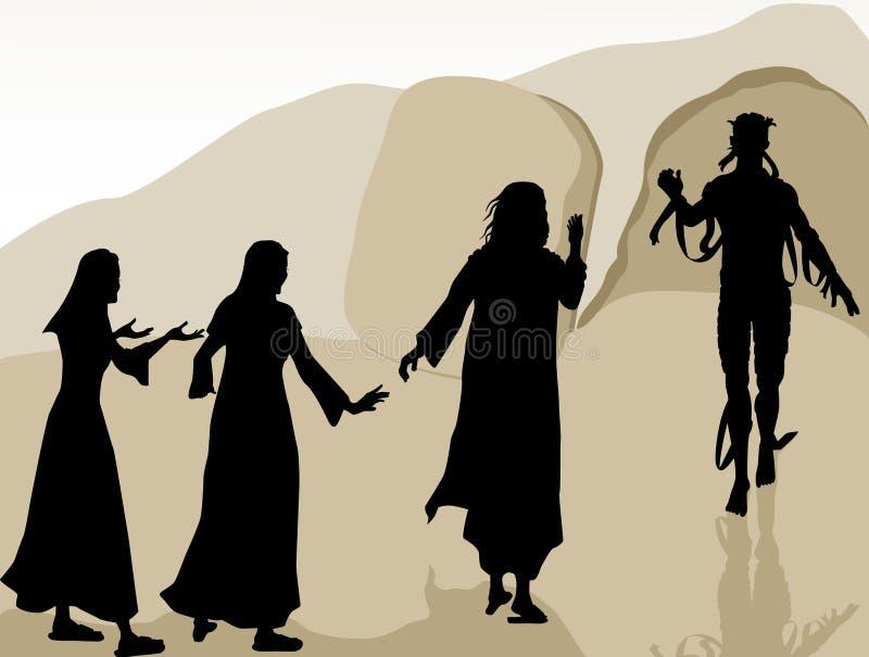 Jesus Raised Lazarus royalty free illustration