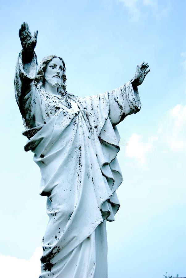 Jesus Raises His Hands images libres de droits