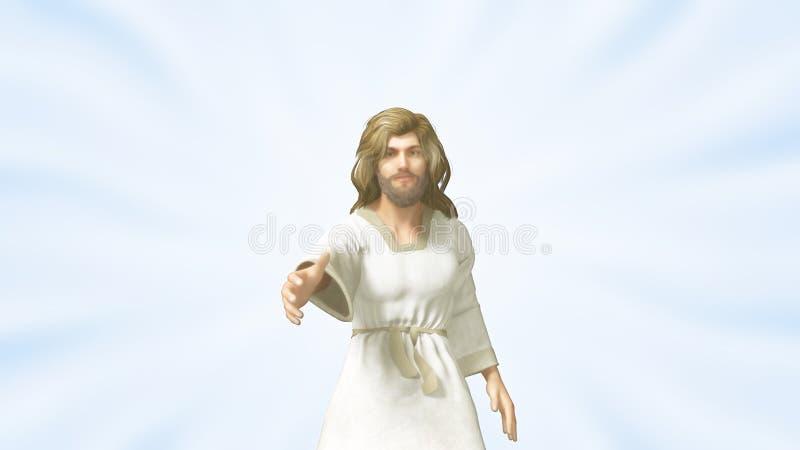 Jesus Reached Out para dar-nos uma mão amiga imagem de stock