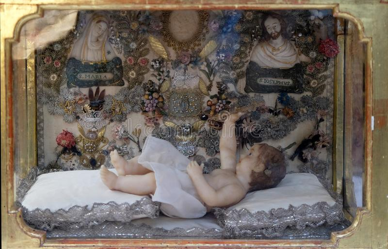 Jesus recém-nascido foto de stock