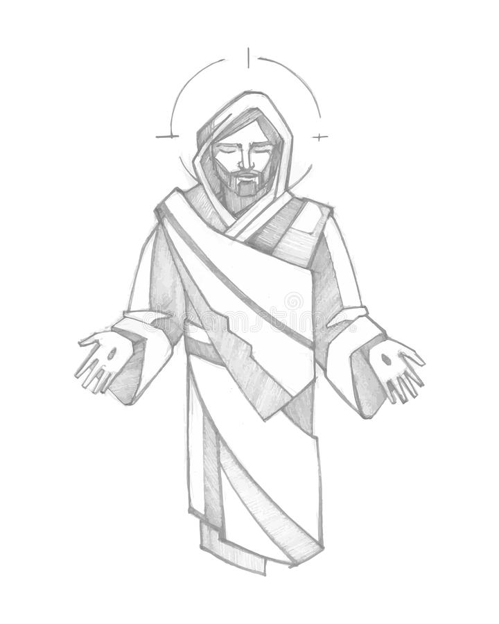 Jesus Resurrection ilustração royalty free