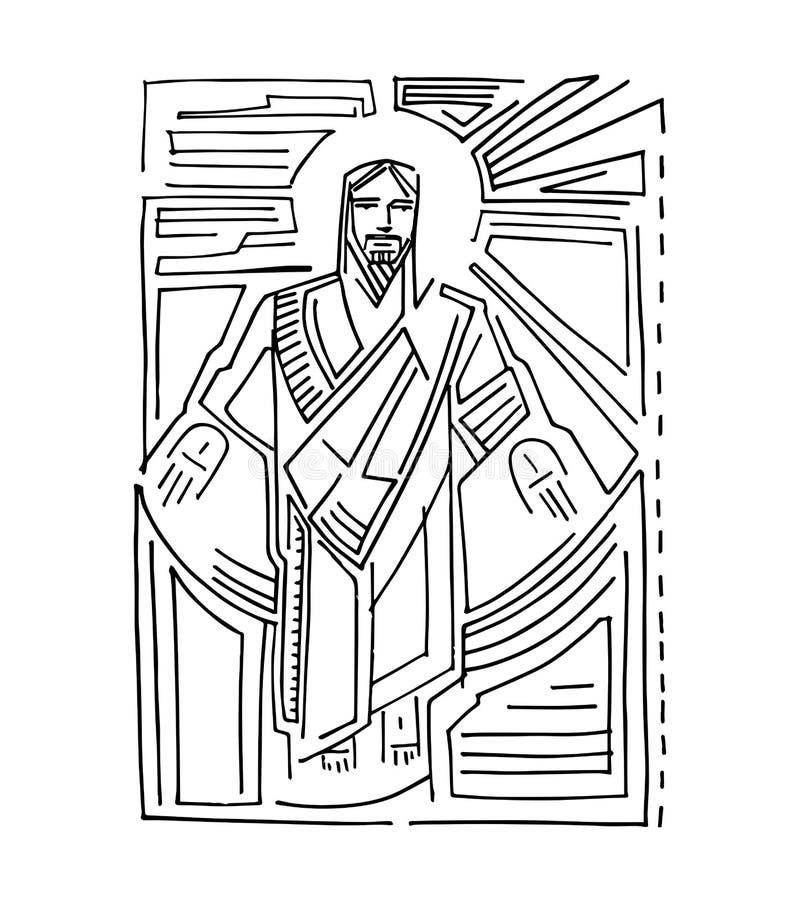 Jesus Resurrection c stock illustration