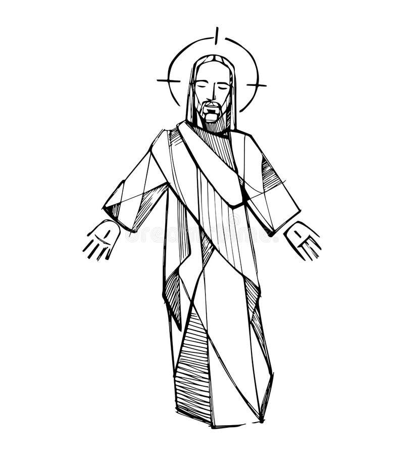 Jesus Resurrection d vector illustration