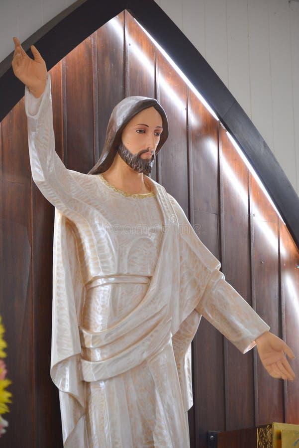 Jesus resurrection. Statue Jesus resurrection for easter royalty free stock photo