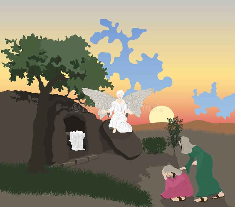 Jesus Risen royaltyfri illustrationer