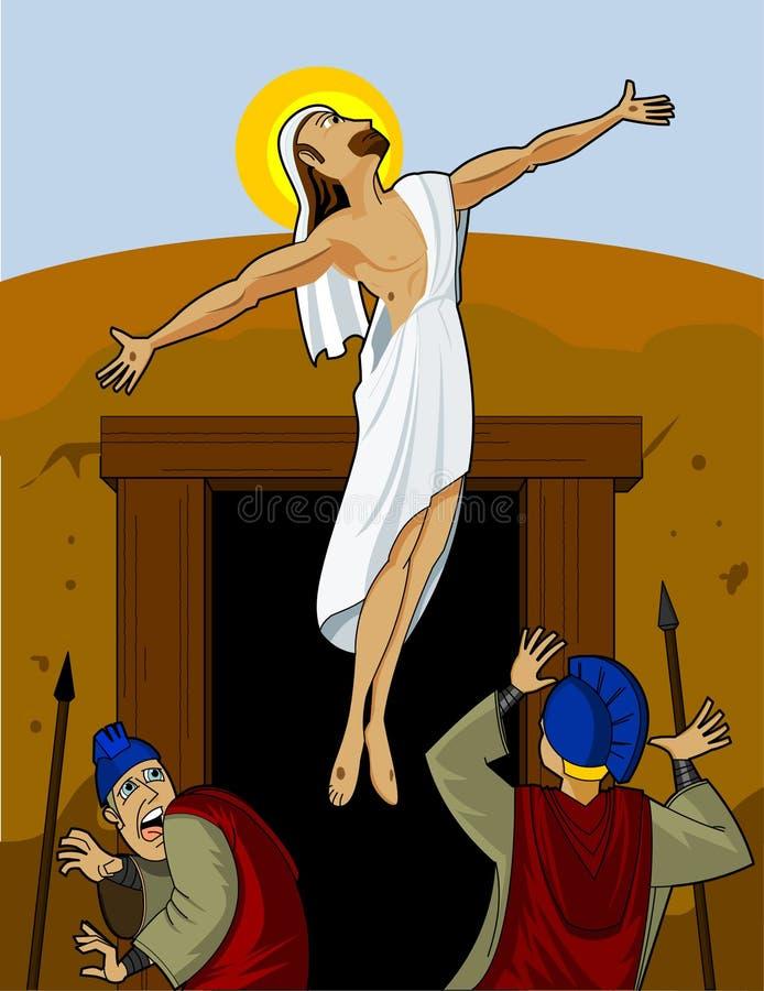 Jesus Rising stock illustratie
