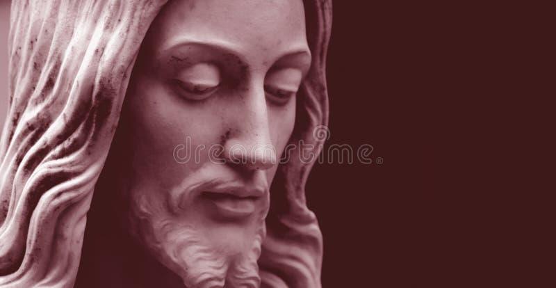 Jesus, rood-gestemde foto exemplaar-ruimte stock foto's