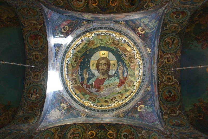Jesus Russian Mosaic royalty free stock image