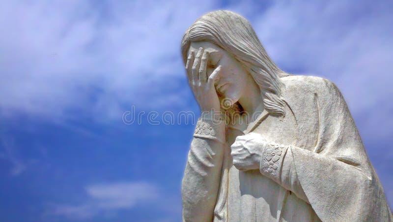 Jesus sörjer royaltyfri fotografi
