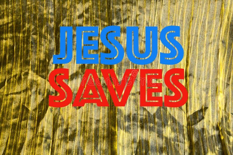 Jesus Saves-illustratie royalty-vrije stock afbeeldingen