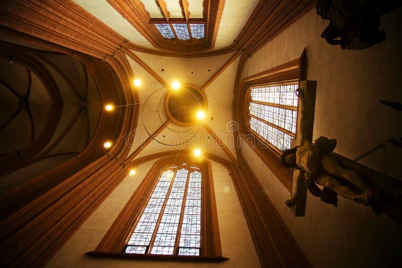Jesus Sculpture en Francfort Dom Cathedral fotos de archivo