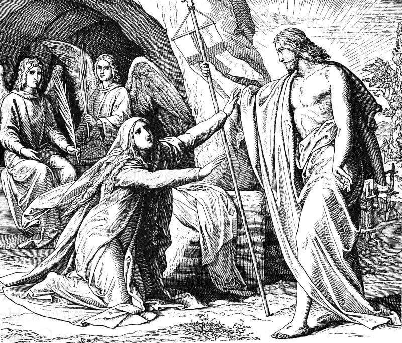 Jesus Shows Himself till Mary arkivbild