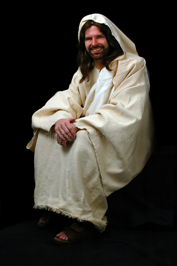Jesus-Sitzen stockfotos