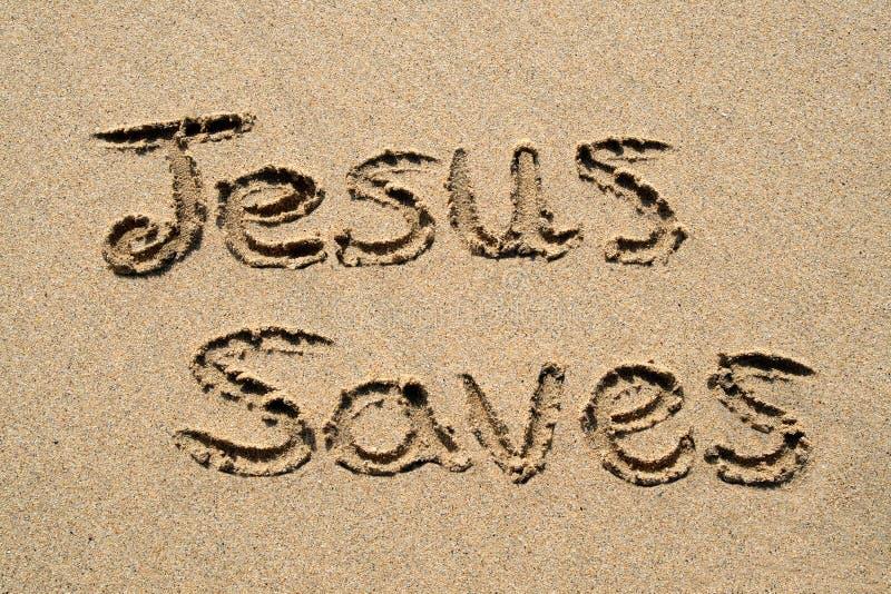 Jesus spaart. royalty-vrije stock foto