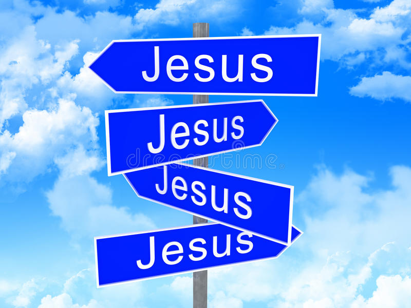 jesus sposób royalty ilustracja