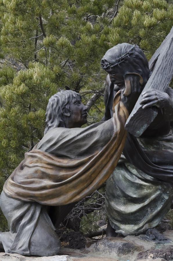 Jesus starb für uns lizenzfreie stockfotografie