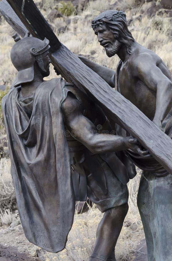 Jesus starb für uns lizenzfreies stockbild