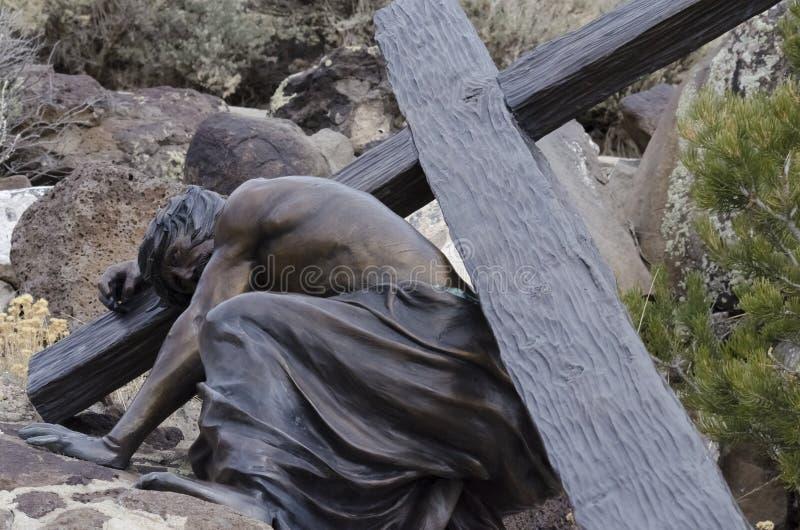 Jesus starb für uns lizenzfreies stockfoto