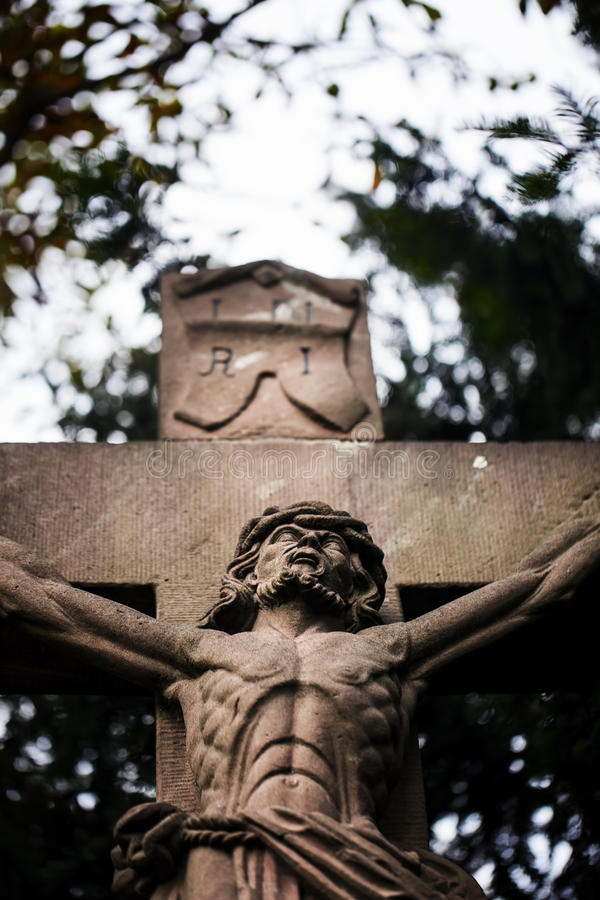 Jesus Statue crucificado imagem de stock royalty free
