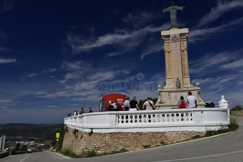 Jesus Statue em Monte Toro, Menorca, Espanha foto de stock