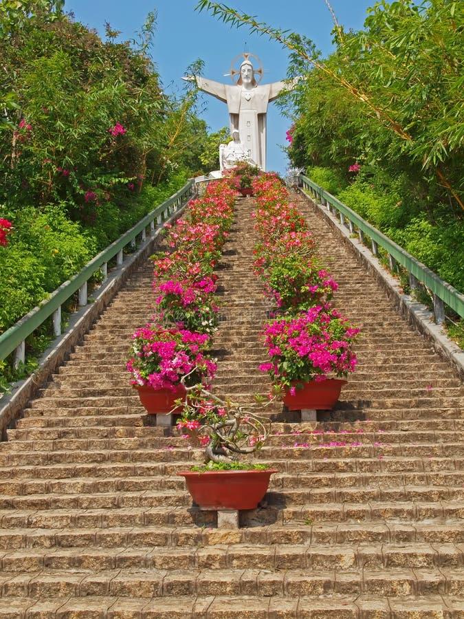 jesus statuy tau Vietnam vung obraz royalty free