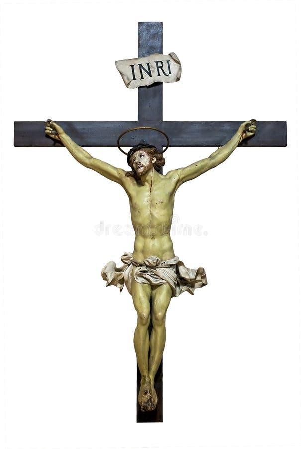 Jesus sulla traversa fotografia stock libera da diritti