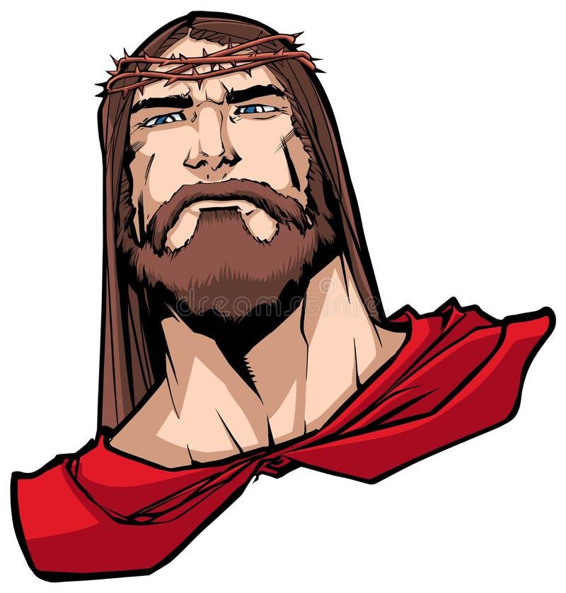 Jesus Superhero Portrait illustration libre de droits