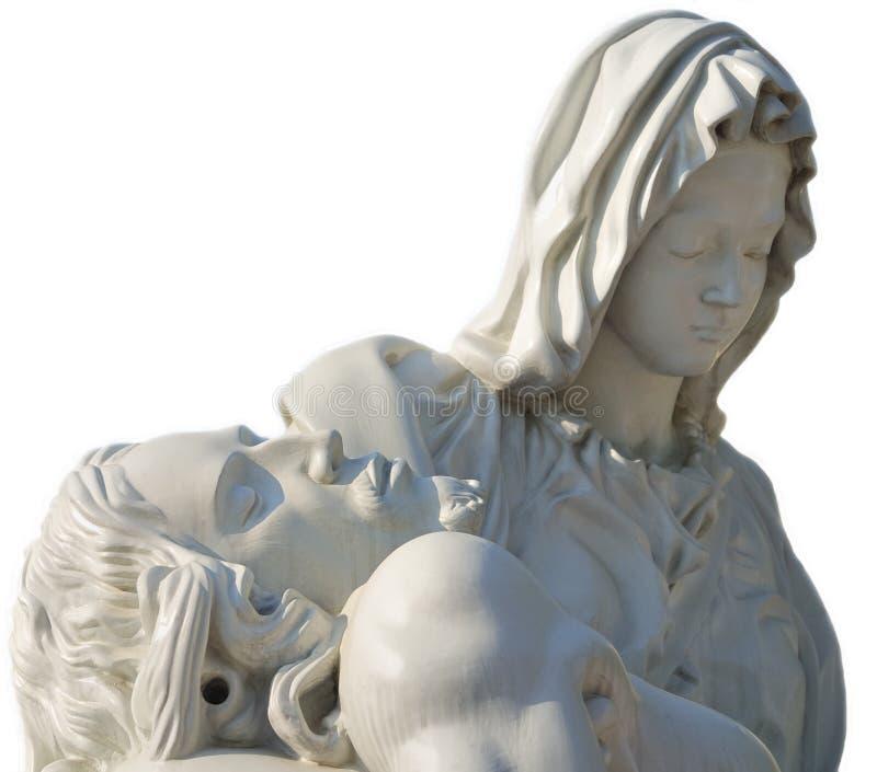 Jesus to virgo Marie stock photography
