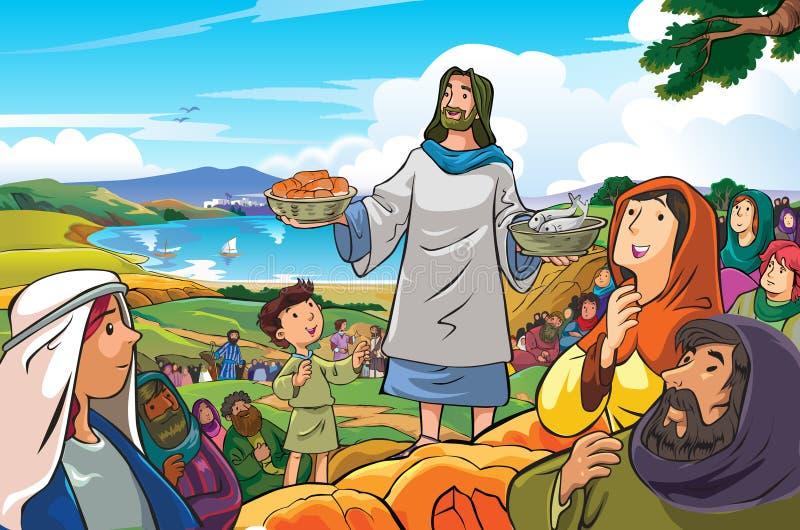 Jesus um gracioso e clemente ilustração do vetor