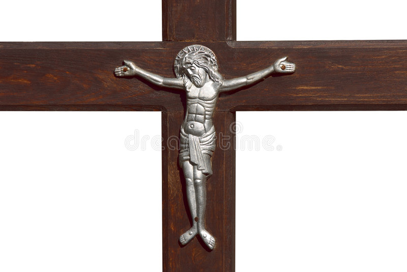 Jesus und Kreuz lizenzfreie stockfotos