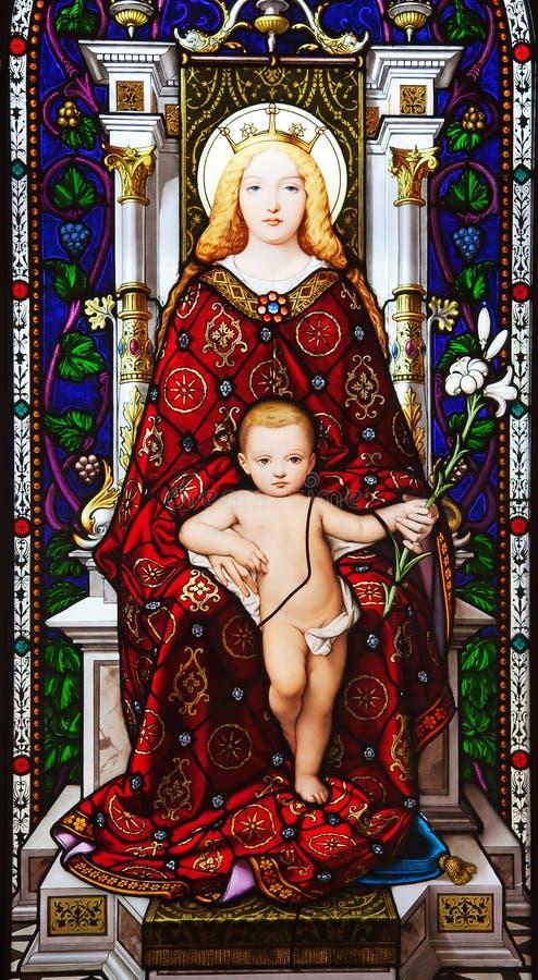 Jesus und Maria lizenzfreies stockbild