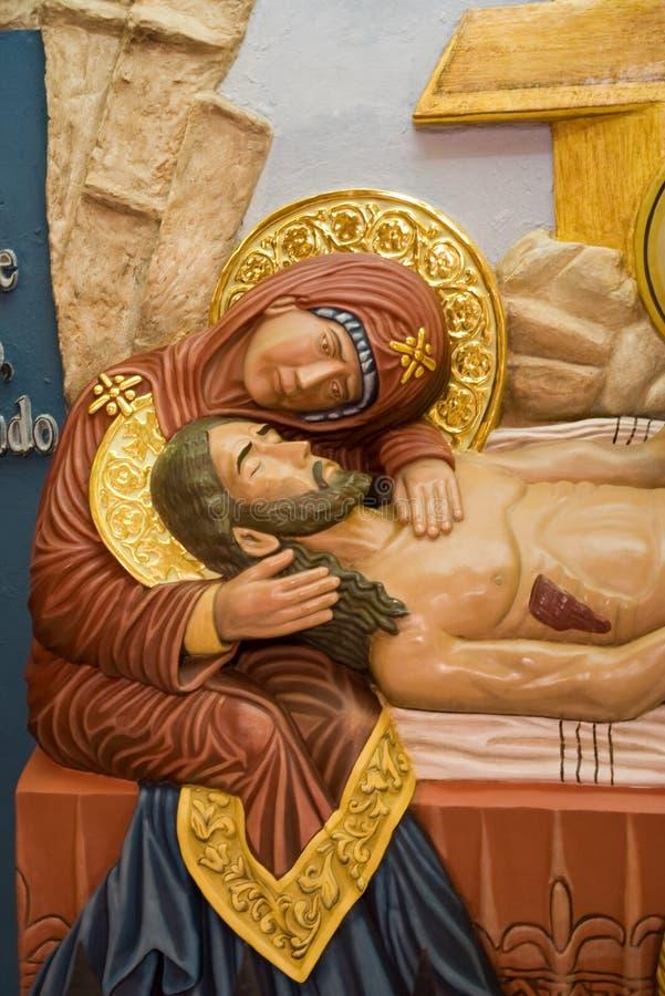 Jesus und Maria stockfotografie