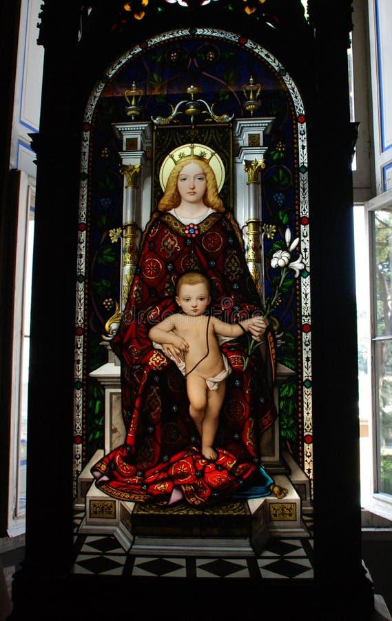 Jesus und Maria stockfotos