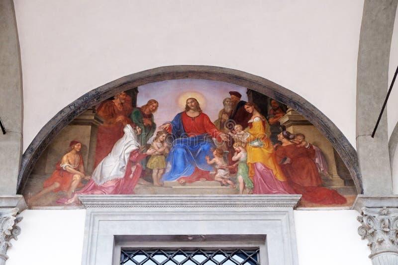 Jesus välsignar barnen arkivbilder