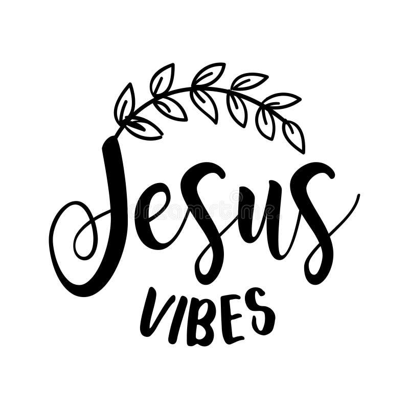 Jesus Vibes - mensagem da rotulação ilustração stock