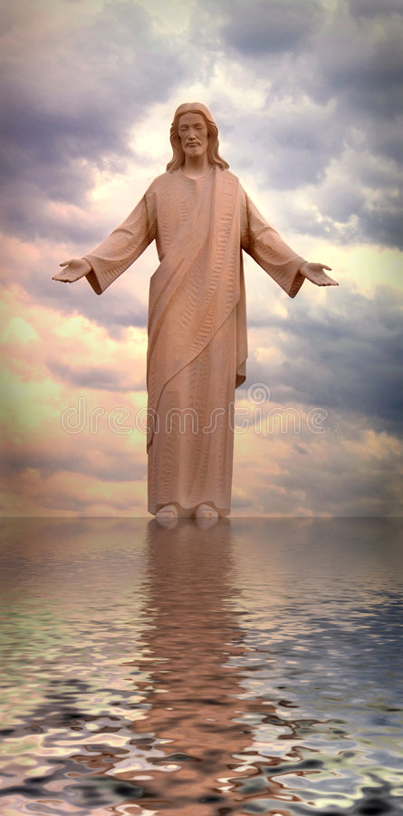 Jesus Walking op Water royalty-vrije stock fotografie
