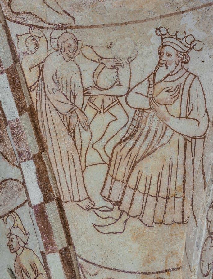 Jesus wordt gebracht aan koning Herod royalty-vrije stock foto