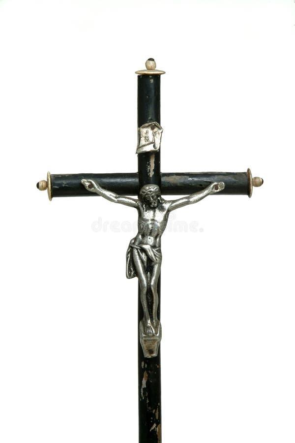Jesus in zilver stock afbeelding